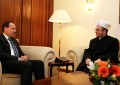 Kryetari i Komunitetit Mysliman Skender Bruçaj takon presidentin Bujar Nishani