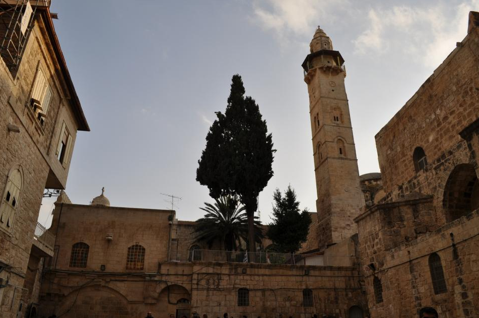Omer mosque and church in Jerusalem
