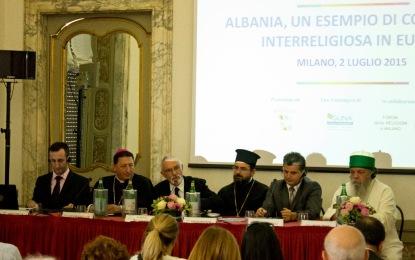 """Milano, konferencë """"Shqipëria: një shembull i bashkëjetesës ndërfetare në Evropë"""""""