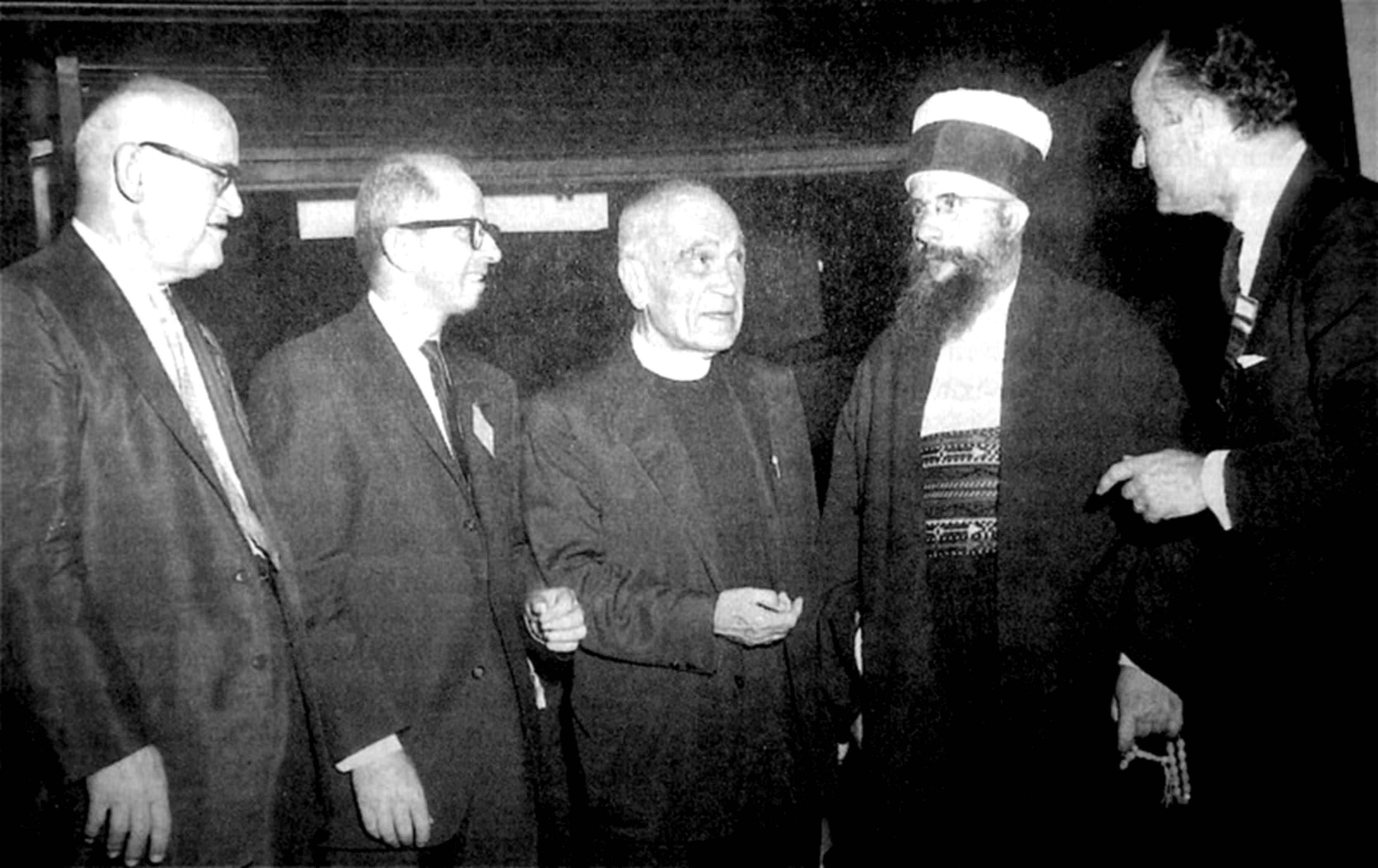 Kristo Thanas, Imam Vehbi Ismaili, Fan Noli, Baba Rexhebi, Anthony Athanas, Boston 1959